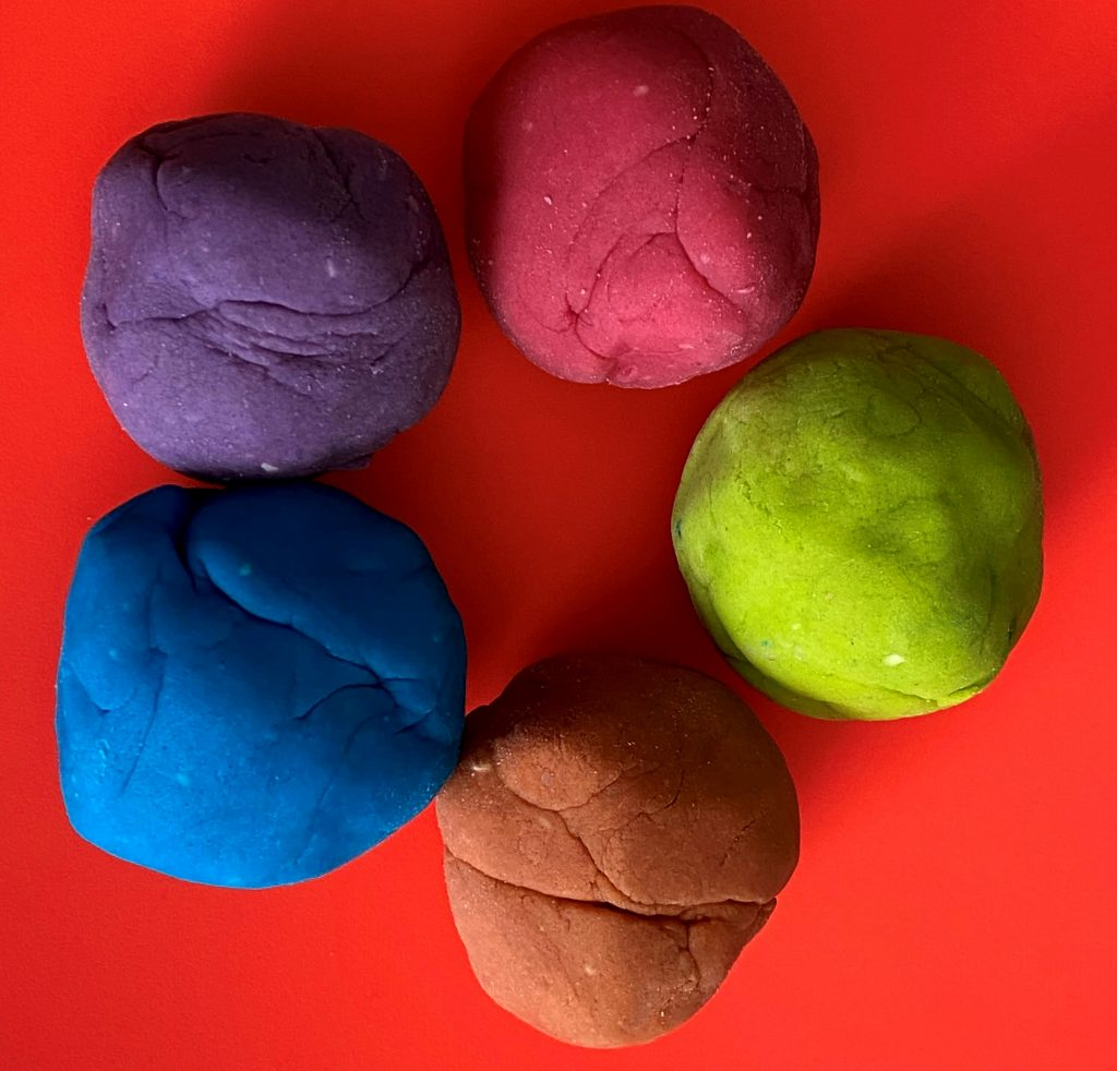 Simple and Colorful Homemade Playdough