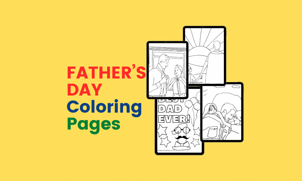 Coloring Pages to Celebrate Dads on Father's Day
